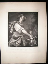 After Alessandro Turchi C1840 LG Folio Print. David with the Head of Goliath